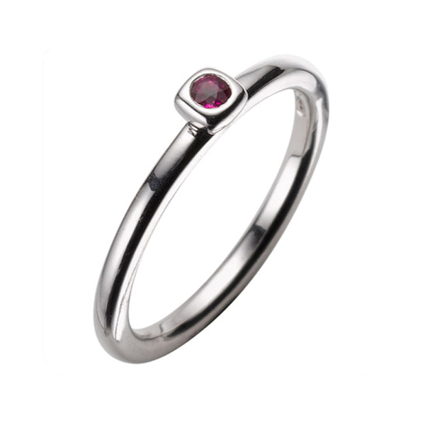 Small Ruby White Gold Ring