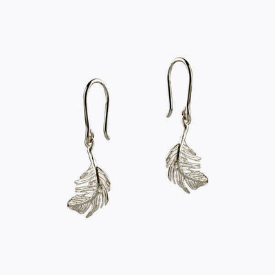 EC One Alex Monroe Little Feather Hook Earrings