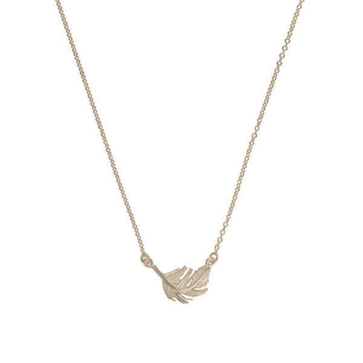 EC One Alex Monroe Little Feather Inline Silver Necklace