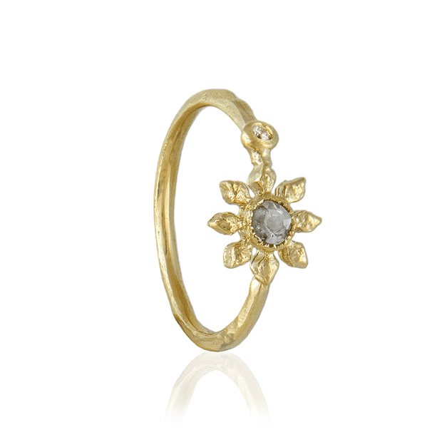 EC One Natalie Perry Grey Diamond Flower Ring