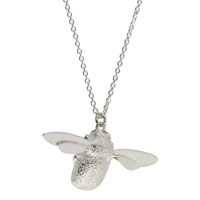 Large Bumblebee Silver Necklace
