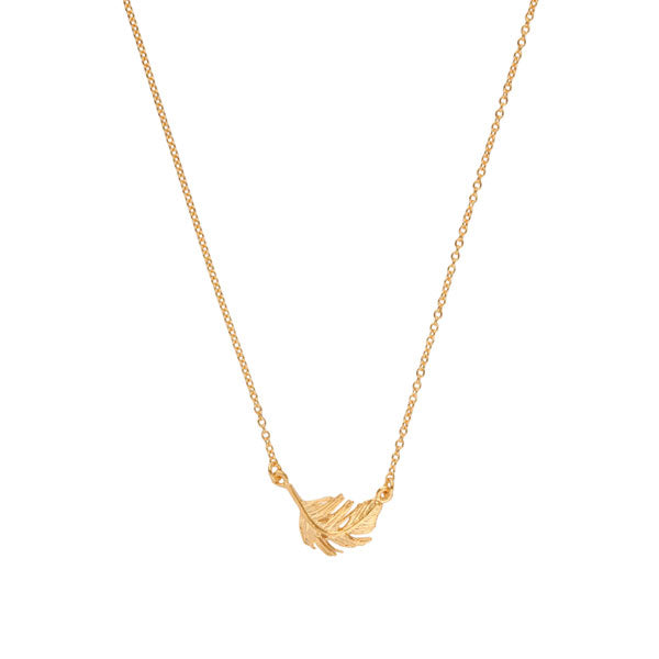 EC One EC One Small Gold Feather Necklace