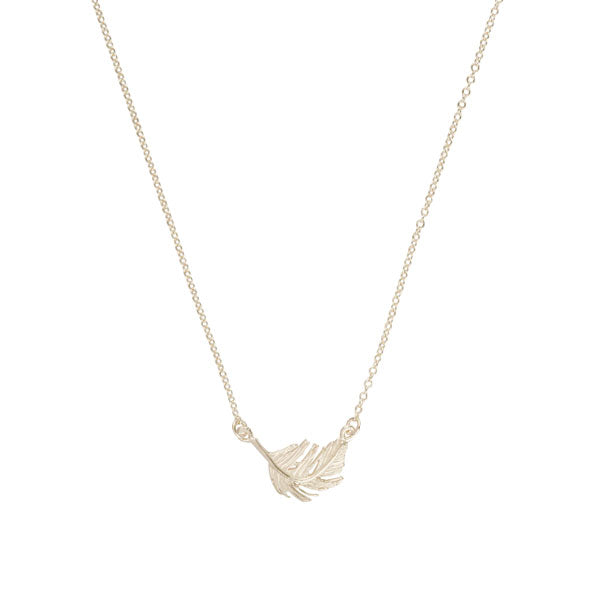 EC One EC One Small Silver Feather Necklace