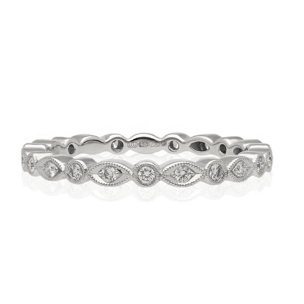 EC One Ungar and Ungar Marquise & Round Diamond 18ct White Gold Eternity Ring
