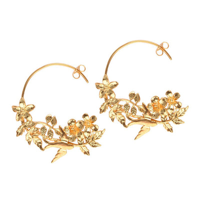 Calabria Gold Hoop Earrings
