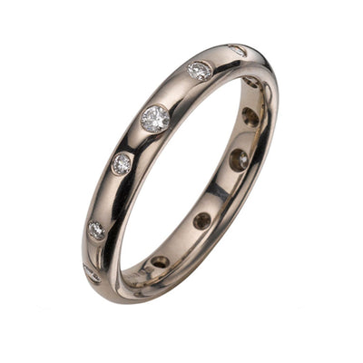 White Gold Diamond Scatter Ring