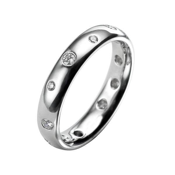 Platinum Eternity Diamond Scatter Ring
