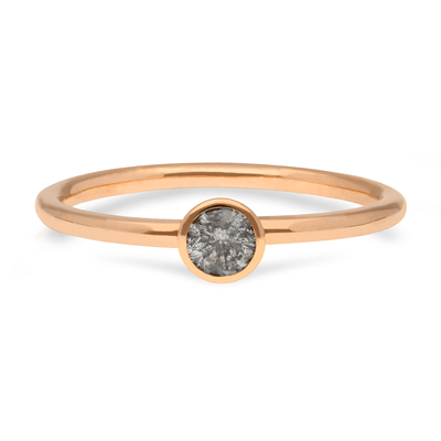 """Janey"" 18ct Rose Gold Ring with Salt & Pepper Diamond"