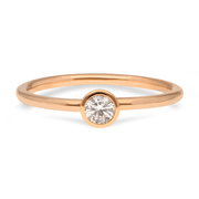 """Janey"" 18ct Rose Gold Ring with White Diamond"