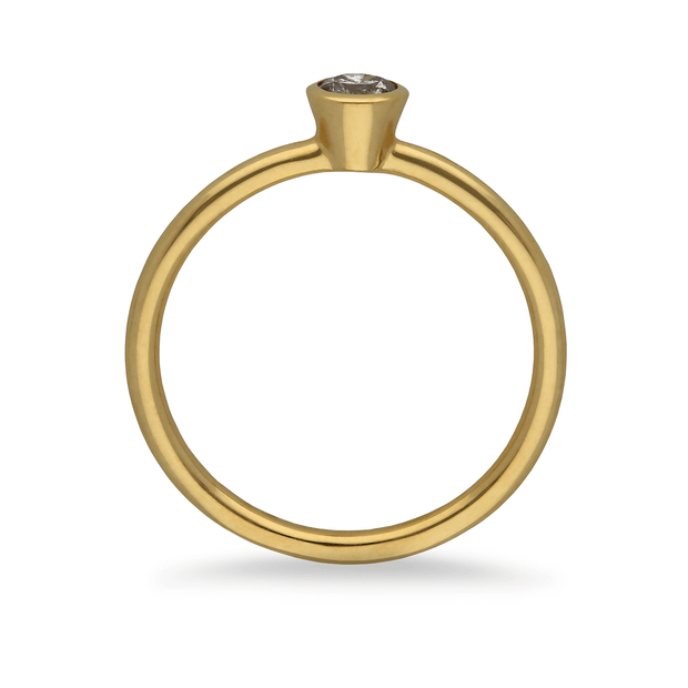 """Janey"" 18ct Yellow Gold Ring with Salt & Pepper Diamond"