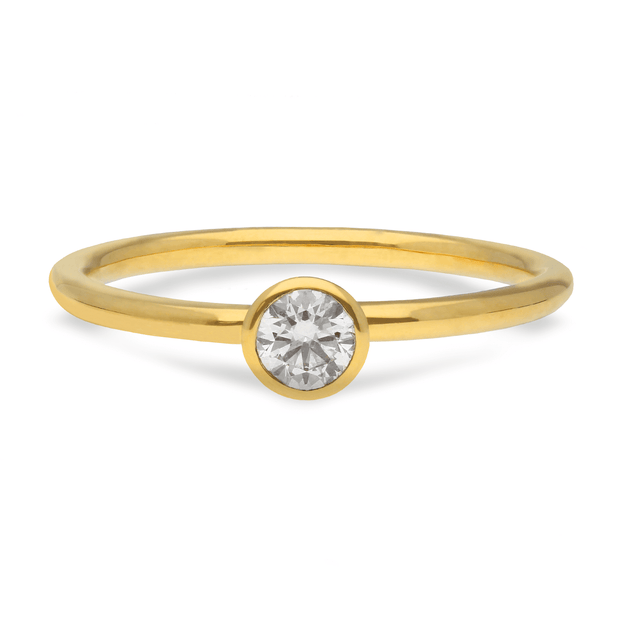 """Janey"" 18ct Yellow Gold Ring with Diamond"