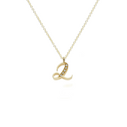"EC One recycled Gold Number ""2"" Pendant  Necklace with diamonds"