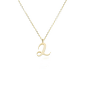 "Recycled Gold number ""2"" Charm Pendant Necklace"