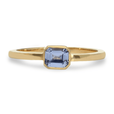 ELLIE AIR x EC ONE - Asteroid Blue Sapphire Ring 9ct Yellow Gold