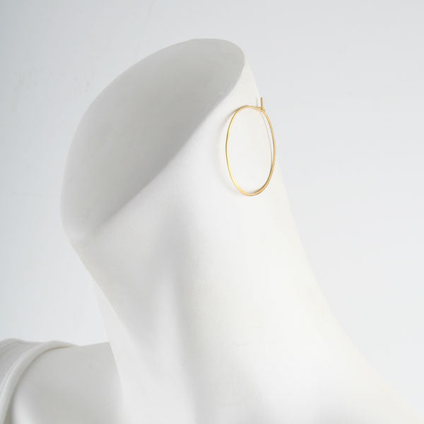 Medium Gold Plated Hoop Earrings