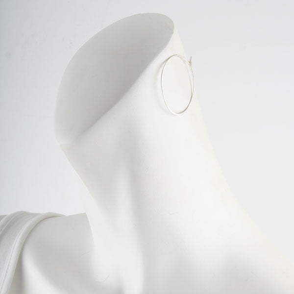 Medium Silver Hoops Earrings