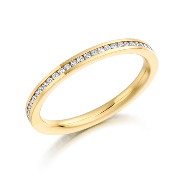 EC One Brilliant Cut 0.33ct Yellow gold Eternity Ring channel set wedding ring