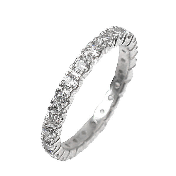 Princess Four Claw Eternity Ring