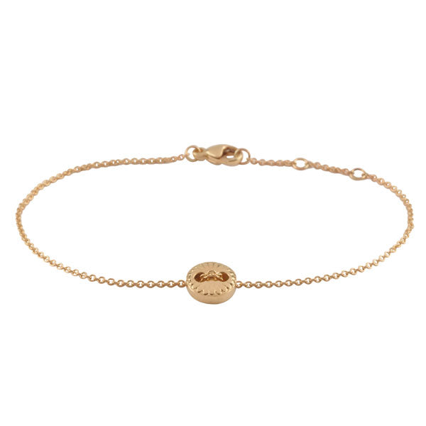 9ct Gold Button Chain Bracelet