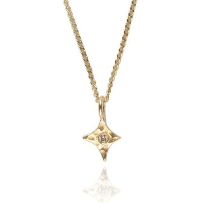 Tiny Diamond Star Necklace