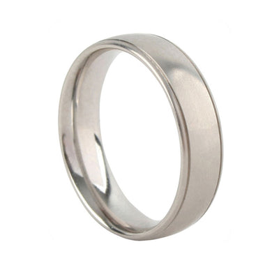 EC One 6mm Grooved Court Palladium Wedding Ring