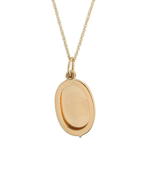 Gold Oval Locket