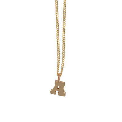 EC One Mini Letter A Initial Recycled Gold Necklace