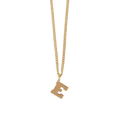 Mini E Initial Necklace