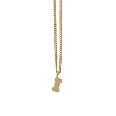 "EC One Mini recycled Gold Letter ""I"" Initial Necklace"