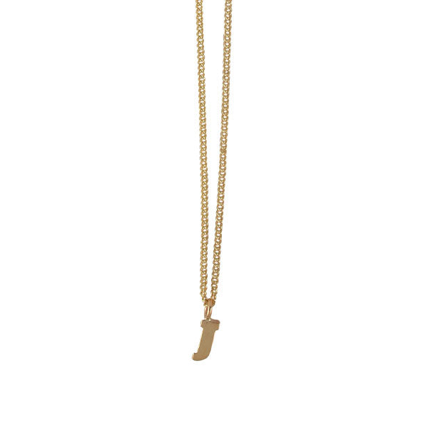 "EC One Mini recycled Gold Letter ""J"" Initial Necklace"