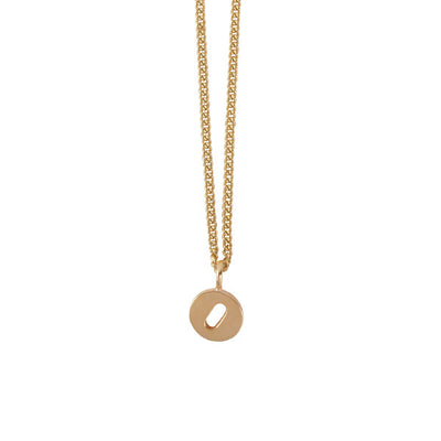 "EC One Mini Letter ""O"" Initial recycled Gold Necklace"