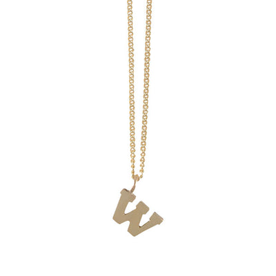 Mini W Initial Necklace