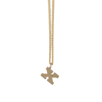 "EC One Mini Letter ""X"" Initial recycled Gold Necklace"