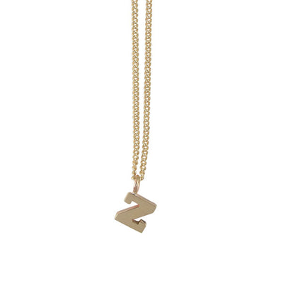 "EC One Mini Letter ""Z"" Initial recycled Gold Necklace"