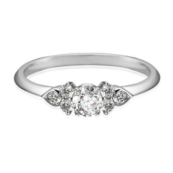"EC One Diamond ""Hatty"" White recycled Gold engagement Ring"