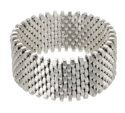 "EC One Alice Menter Silver Statement ""Nut"" Cuff"