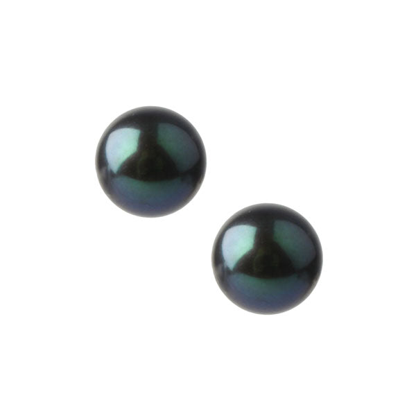 EC One freshwater Peacock Pearl Stud Earrings