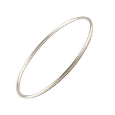 Matt Recycled Silver Bangle