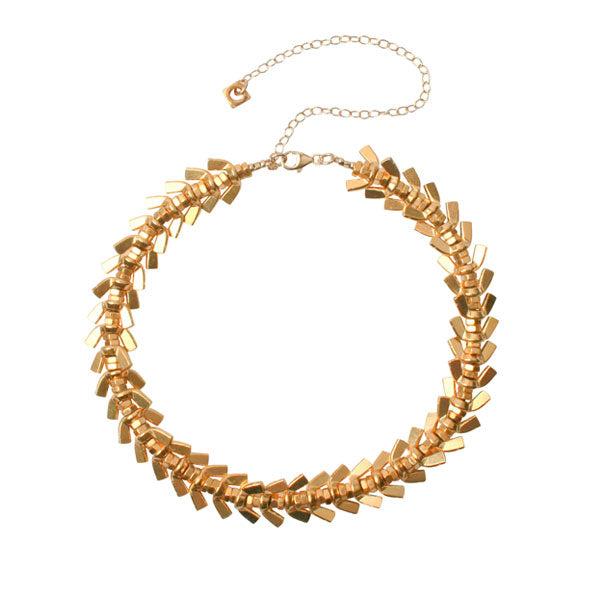 EC One Alice Menter Gold 'Anya' Wingnut Necklace