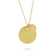 EC One 'Beat' Long Gold Two Disc Pendant
