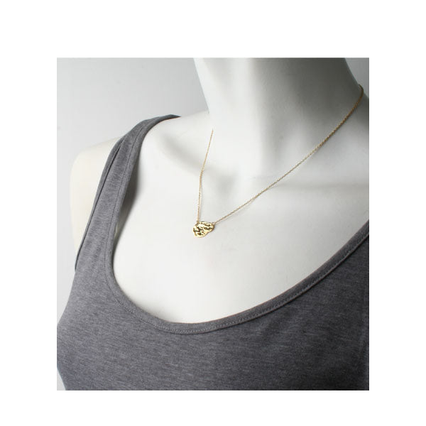 'Beat' Gold Double-Disc Necklace