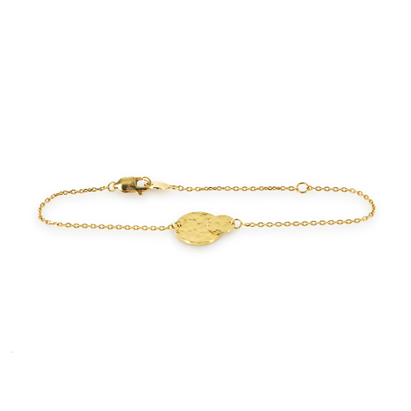 EC One 'Beat' Gold Double-Disc Bracelet