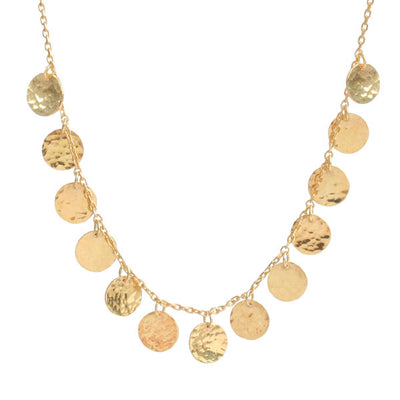 'Beat' Gold Disc Collar Necklace