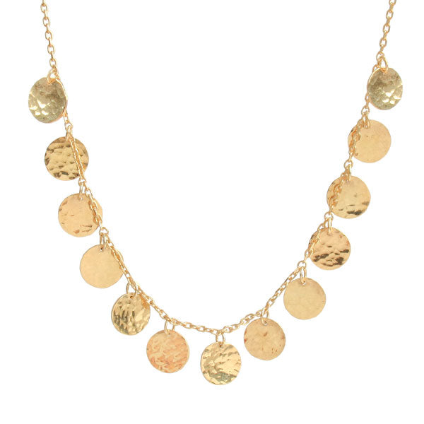 EC One 'Beat' Gold Disc Collar Necklace