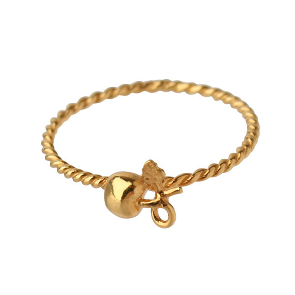 EC One Alex Monroe Gold Cherry Twist Wire Ring