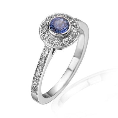 Medium Sapphire & Diamond Emma Ring
