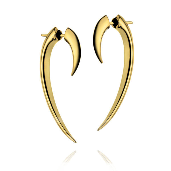 'Tusk' Medium Hook Earrings Gold