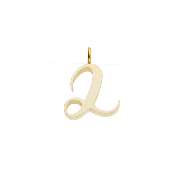 "Recycled Gold number ""2"" Charm Pendant"