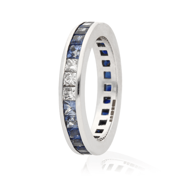 Sapphire Fade White Gold Eternity Ring