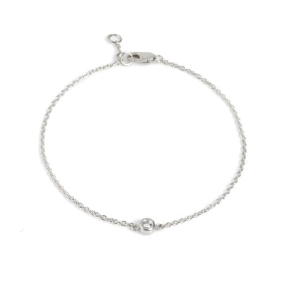 Simple Diamond White Gold Bracelet